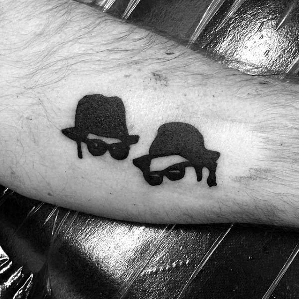 Blues Brothers Small Simple Guys Silhouette Tattoos