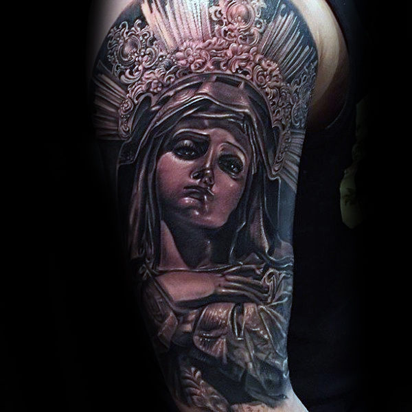 Saint Mary Guys Tatouages ​​à demi-manches