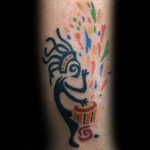 Amazing Mens Forearm Kokopelli Tattoo Designs