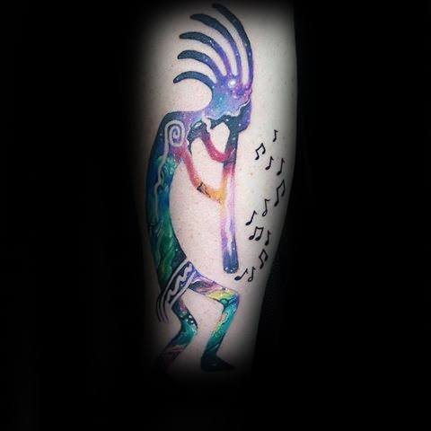 Kokopelli Guys Tattoos On Forearm