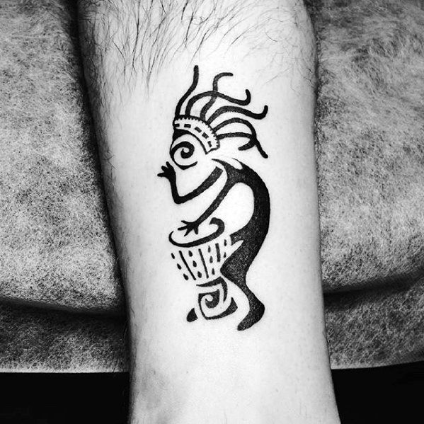 Small Forearm Kokopelli Mens Tattoo Designs