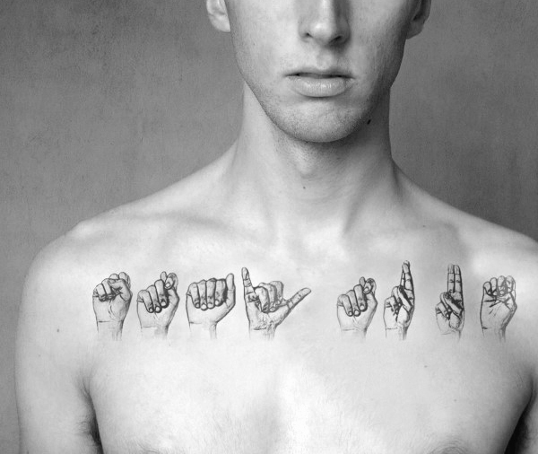 Tattoo Sign Language Ideas For Guys