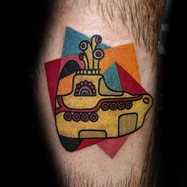 Hombre Cool Beatles Yellow Submarine Tattoo Ideas