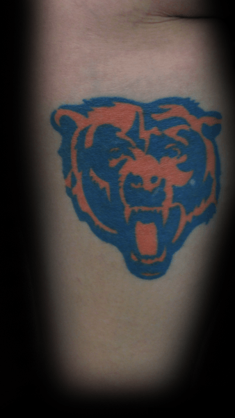 Bicep bras intérieur Chicago Bears Tattoo Designs