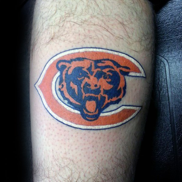 Guys Leg Chicago Bears idées de conception de tatouage
