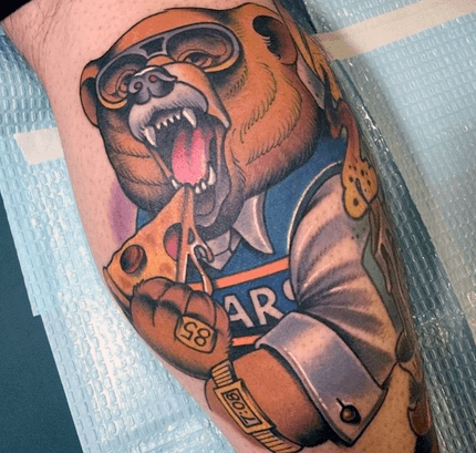 Leg Veau Mens Chicago Bears Tattoo Idées