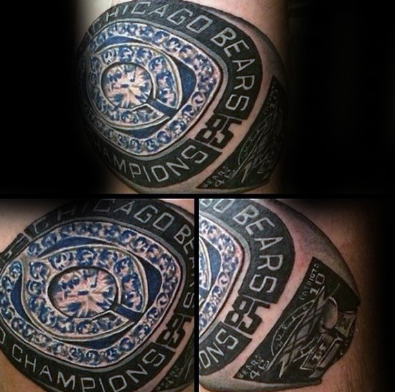 Chicago Bears Championship Ring Guys Tatouages