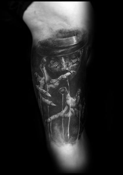 Impressive Male Gothic Tattoo Designs