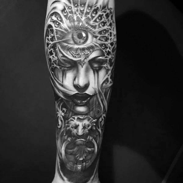 Badass Guys Gothic Themed Tattoos
