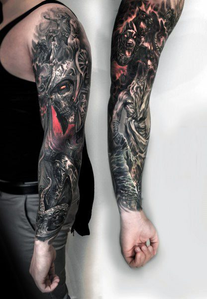 Male Tattoo Ideas Gothic Themed