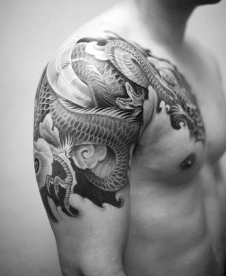 Hommes's Japanese Sleeve Tattoo Designs