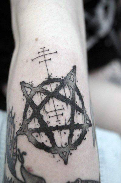 Mens Cool Pentagram Tattoo Design Ideas