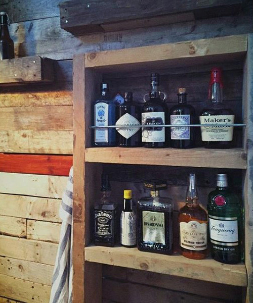 Man Cave Bar Shed Ideat Drink Storage