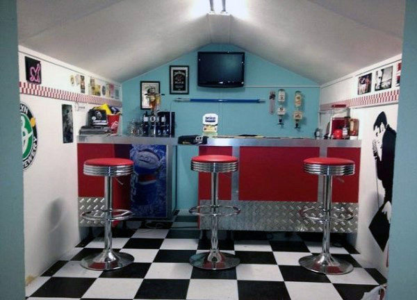 Retro Decor Shed Bar Ideat