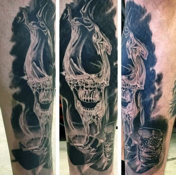 Hombres's Smoke Tattoo Designs