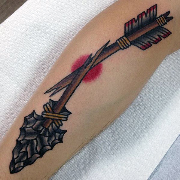 Broken Arrow perinteiset kaverit Arm Tattoo Retro Design