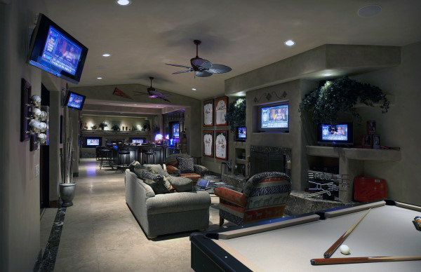 Custom Basement Home Game Room Ideas For Males