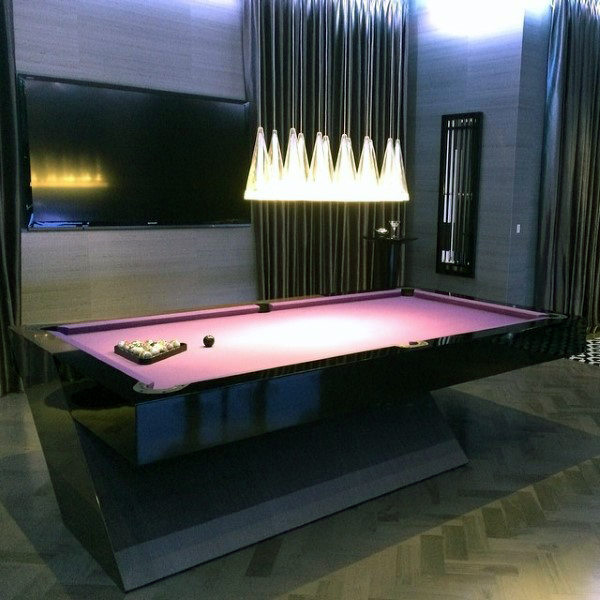 Modern Mens Pool Table Small Game Room Designs