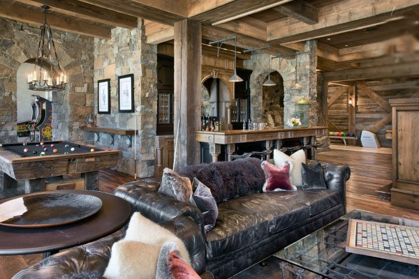 Rustic Wood Masculine Game Room Ideas For Guys