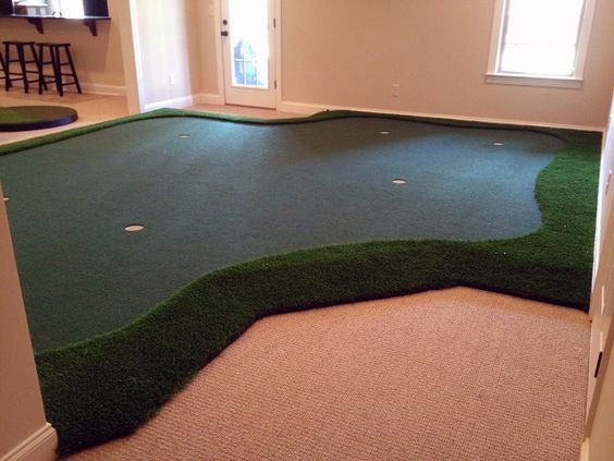Basement Game Room Putting Green Ideas