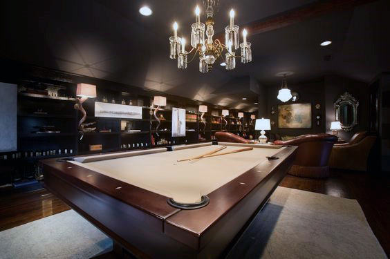 Upscale Mens Luxury Game Room Design Inspiration