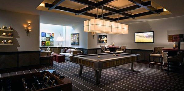 Contemporary Game Room Ideas For Home Basement