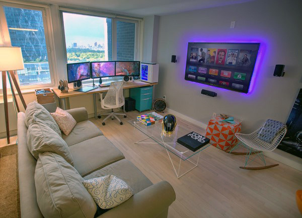 Cool Game Room Office Ideas For Guys