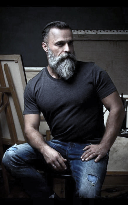 Grey Beard Styles Men