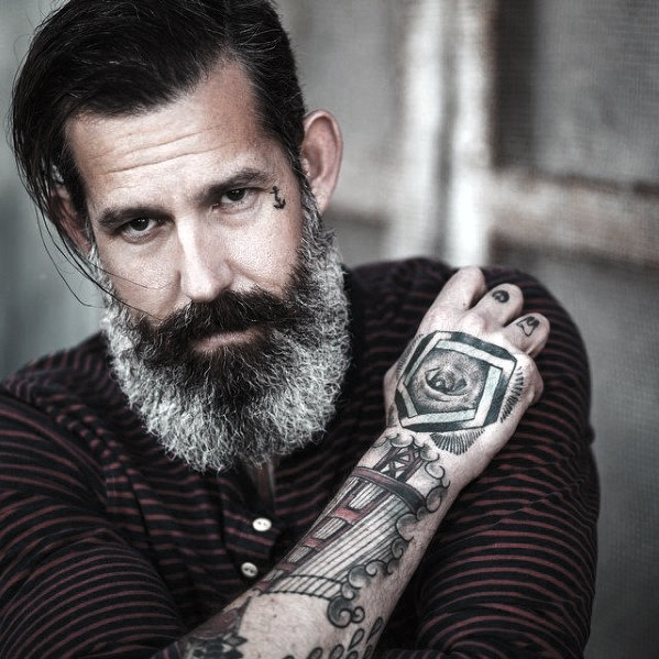 Grey Male Beard Style Ideas