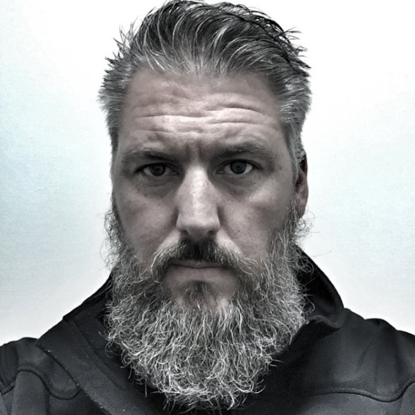 Guys Grey Style Ideas For Beards