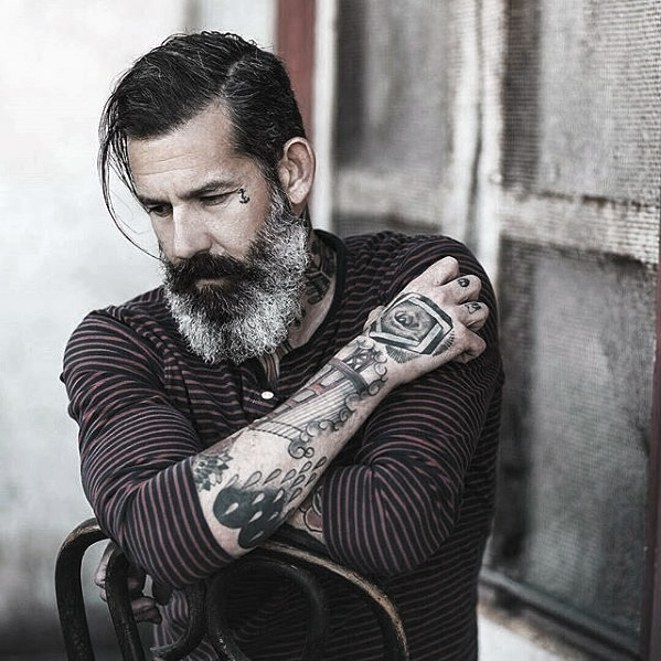 Handsome Mens Grey Beard Style Inspiration