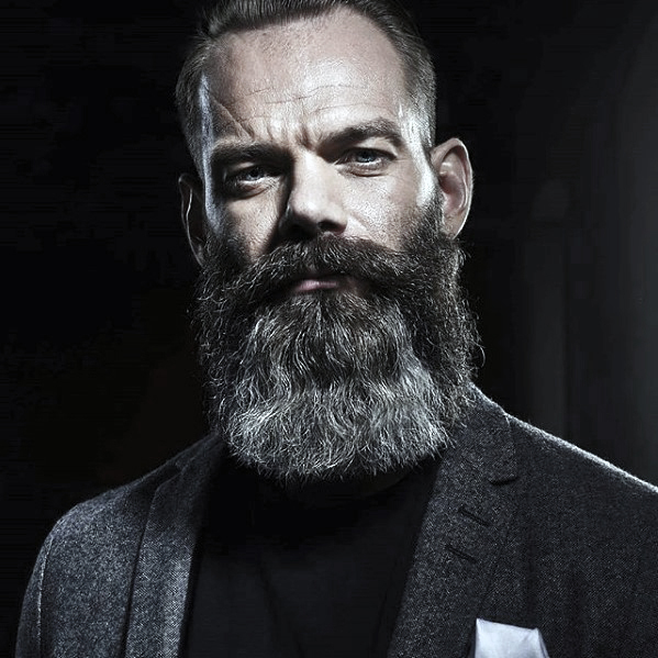Manly Mens Grey Beard Style Ideas