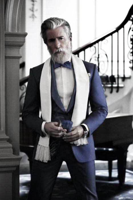 Men Grey Beard Style Ideas