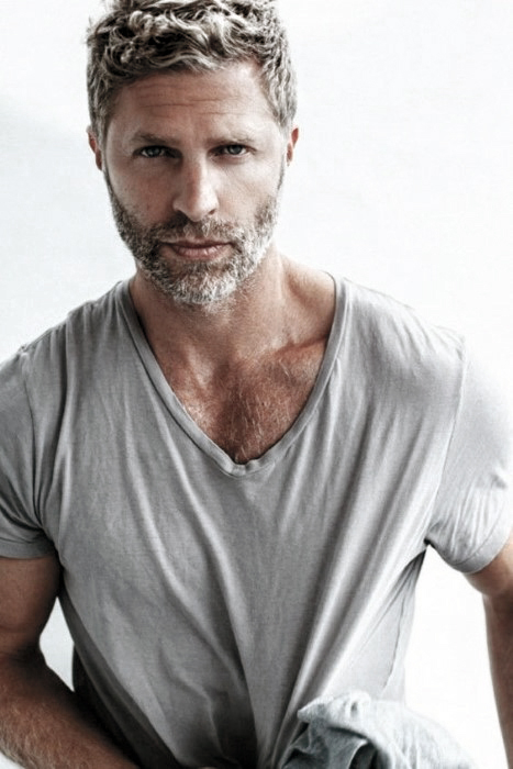 Fashionable Male Beard Grey Styles