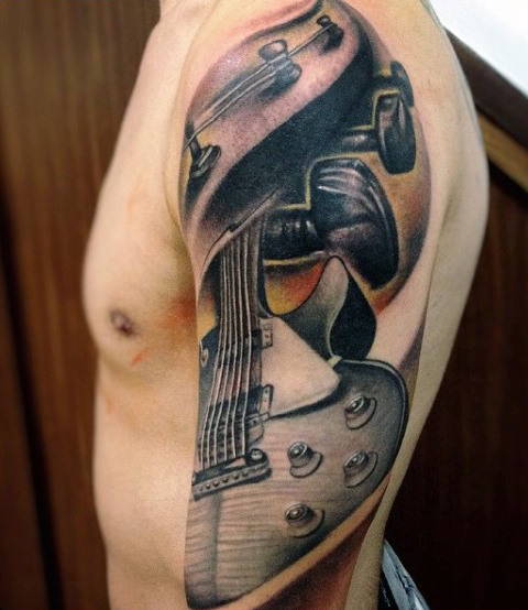 Manches de Guitare Hommes's Tattoos