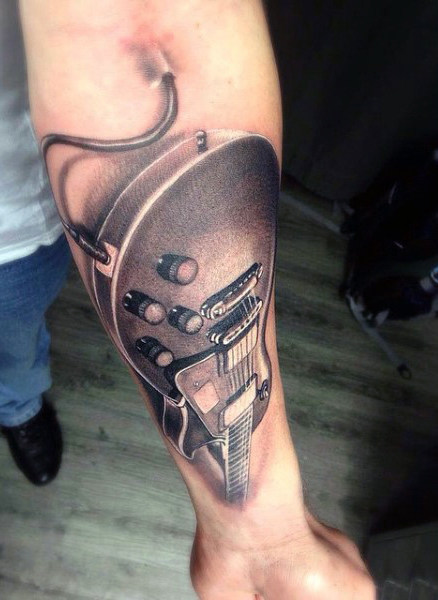 Hommes's Guitar Tattoos