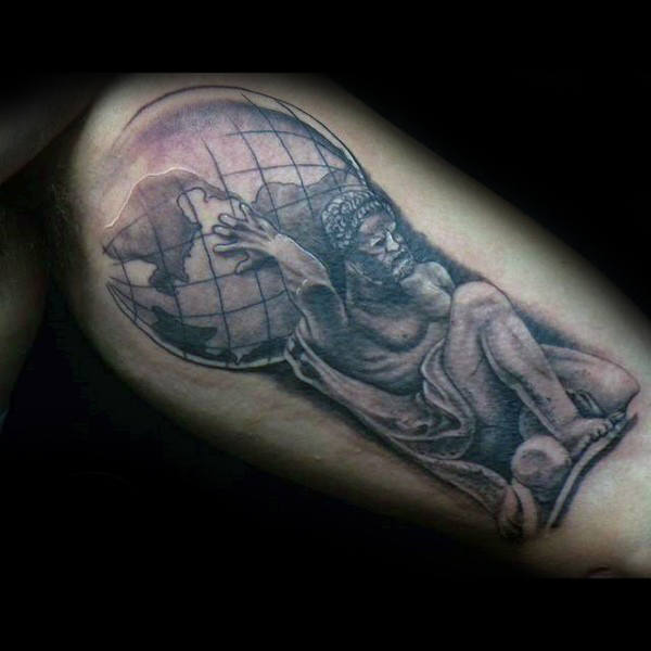 Bicep Guys Atlas Tattoo Designs