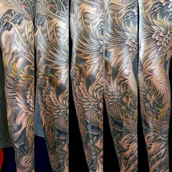 Griffin Mens Sleeve Sleeve Tattoo Designs