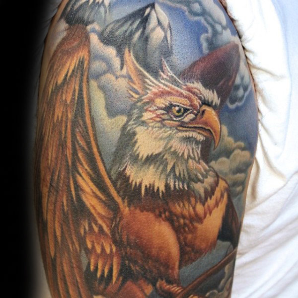 Guys de manga Griffin Tattoo Ideas