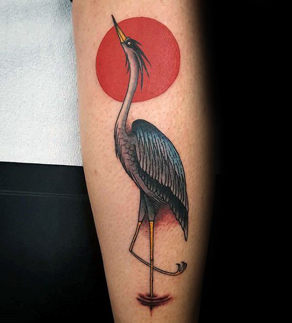 Incredible Heron Tattoos For Men