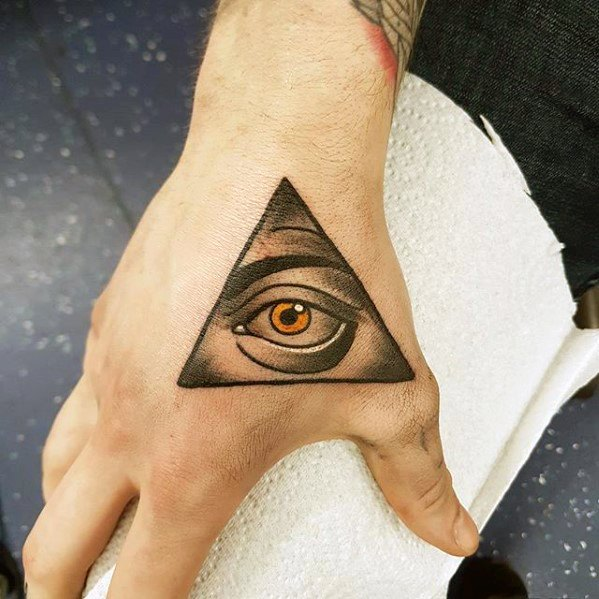 All Seeing Eye Simple Hand Tattoo Ideas For Males