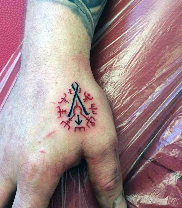 Norse Manly Simple Hand Tattoo Design Ideas For Men
