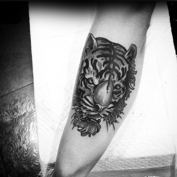 Amazing Traditional Mens Tiger Arm Tattoo Ideas