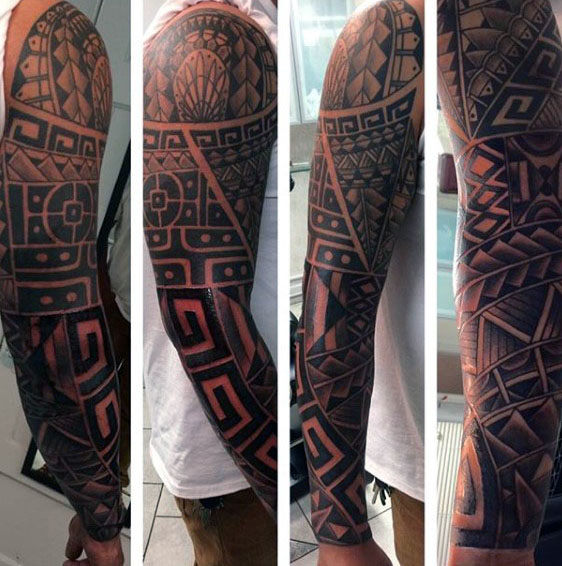 EhrfürchtigeÄrmel Mens Arm Tribal Tattoo