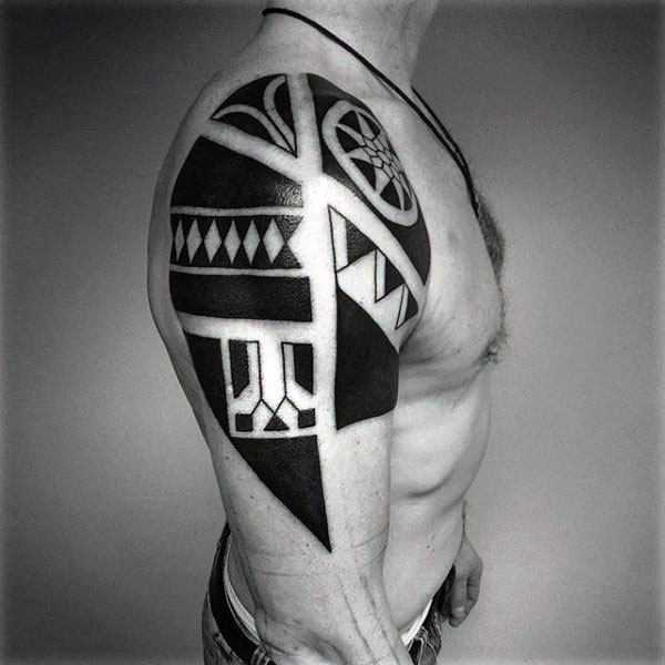 Oberarm Cool Tribal Tattoos fürแขนMänner