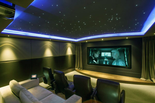 Cool Private Home Screening Room