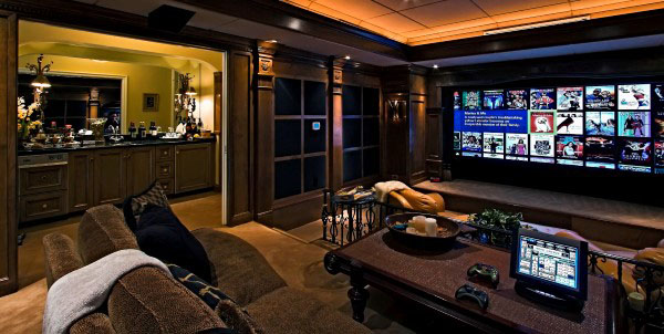 Custom Basement Home Theater Entertainment Room Design Ideas