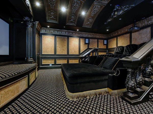 Custom Media Room Furniture With Elegant Design