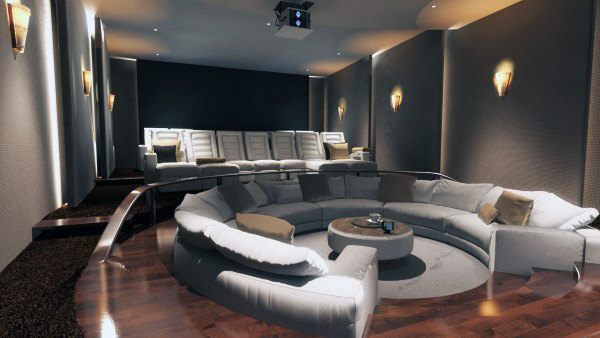 Floor Seating Lounge Home Theater Design