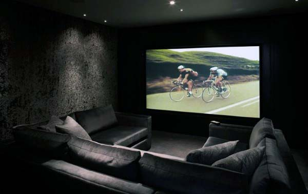 Home Theater Black Room